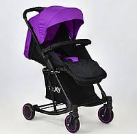 Детская прогулочная коляска с качалкой Joy Т 609, фиолетовая