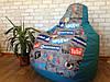 Кресло Мешок, бескаркасное кресло Груша ,Пуф  ХХL 130*90 см (средний) Ткань Оксфорд 600 ( моющаяся) +Принт !, фото 3