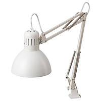 Лампа настольная IKEA TERTIAL, E27, белая
