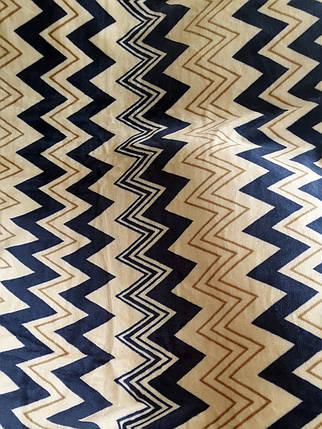 Покрывало на кровать «Синий зигзаг» - 180х215, СОНЯ ТЕКС, фото 2