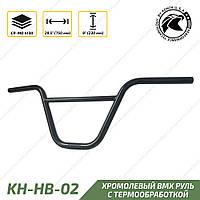 Kench KH-HB-02 Руль BMX Cr-Mo хромоль 750-230-22.2 мм черный