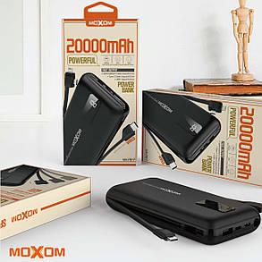Power Bank Moxom MX-PB17 20000mAh black Гарантія 6 місяців, фото 2