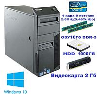 Системный блок, компьютер, Intel Core i7 860, 8 ядер до 3,46 Ghz, 16 Гб ОЗУ DDR-3, HDD 1000 Гб, видео 2 Гб, фото 1