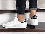Женские кроссовки Adidas Stan Smith (бело-черные) 9078, фото 2