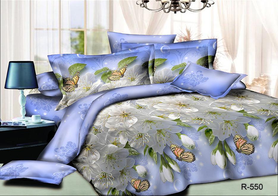 """Комплект постельного белья из ранфорса ТМ """"Ловец снов"""", Цветенье"""