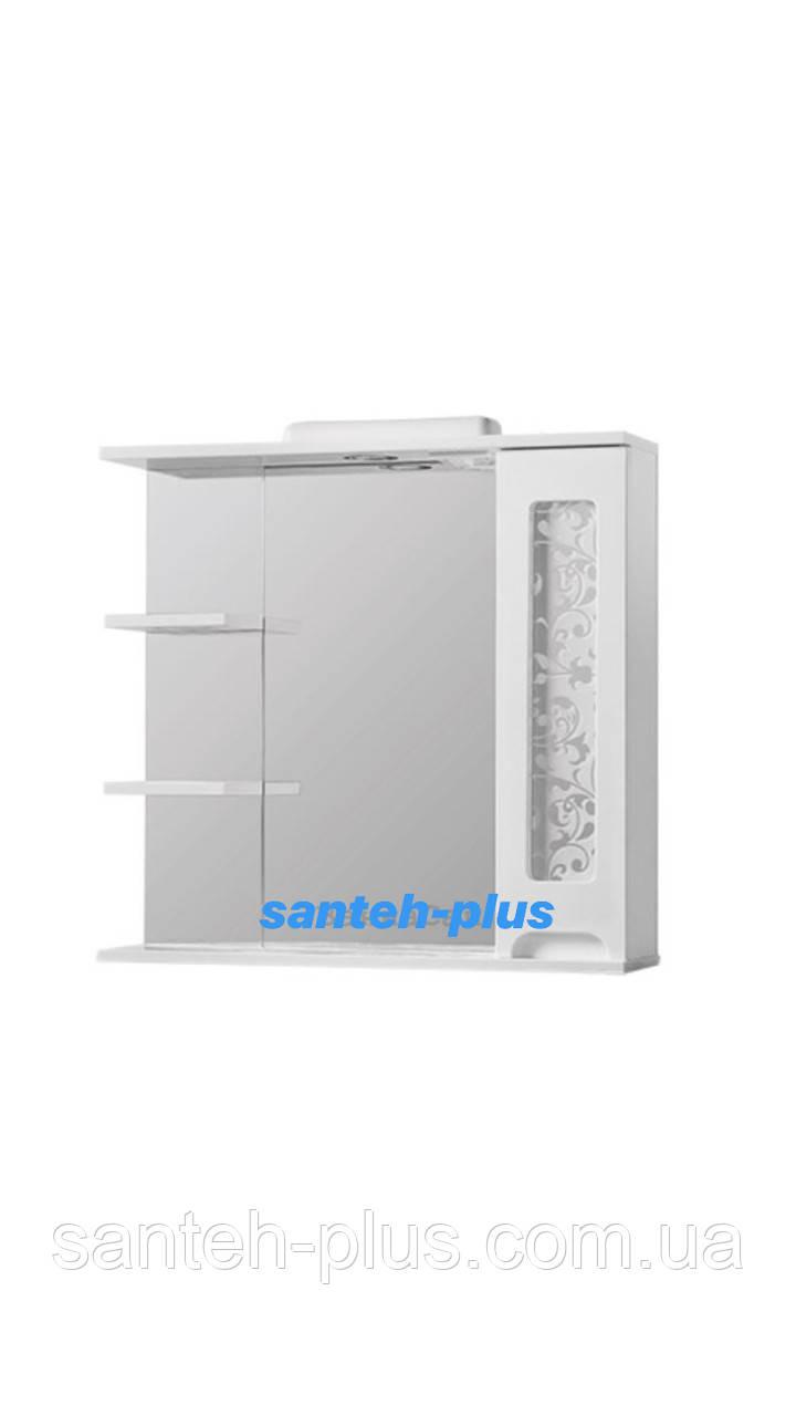 Зеркало для ванной комнаты серии Гламур 80 см левое и правое