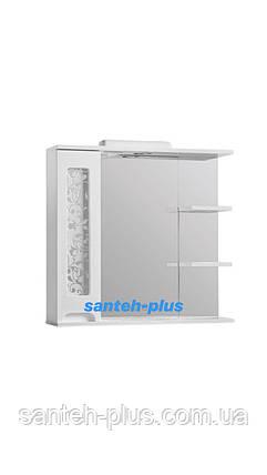 Зеркало для ванной комнаты серии Гламур 80 см левое и правое, фото 2