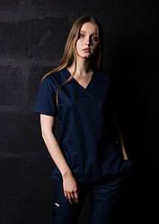 Медицинский костюм врача женский Синий