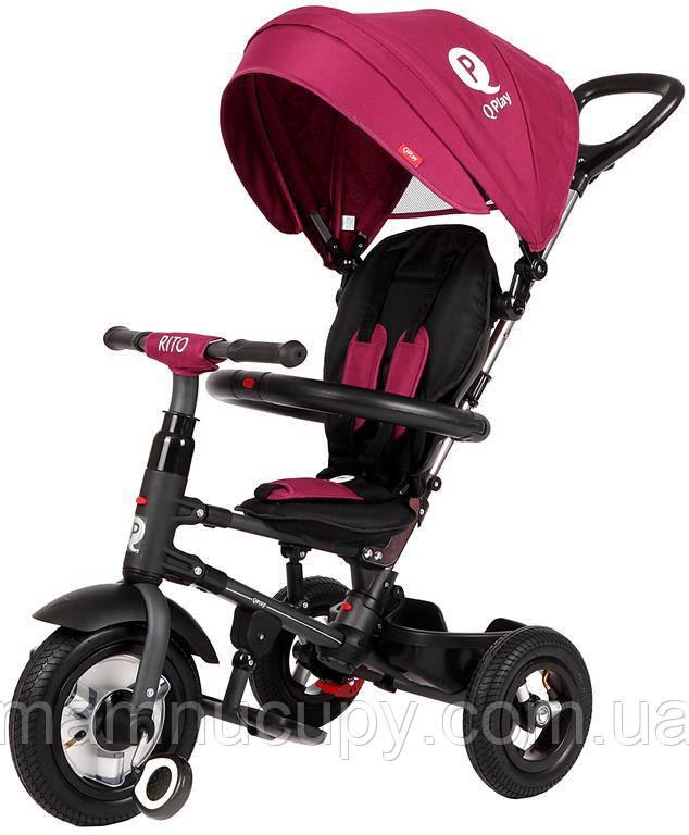 Детский трехколесный велосипед Sun Baby QPlay Rito Air (J01.014.12) бордовый