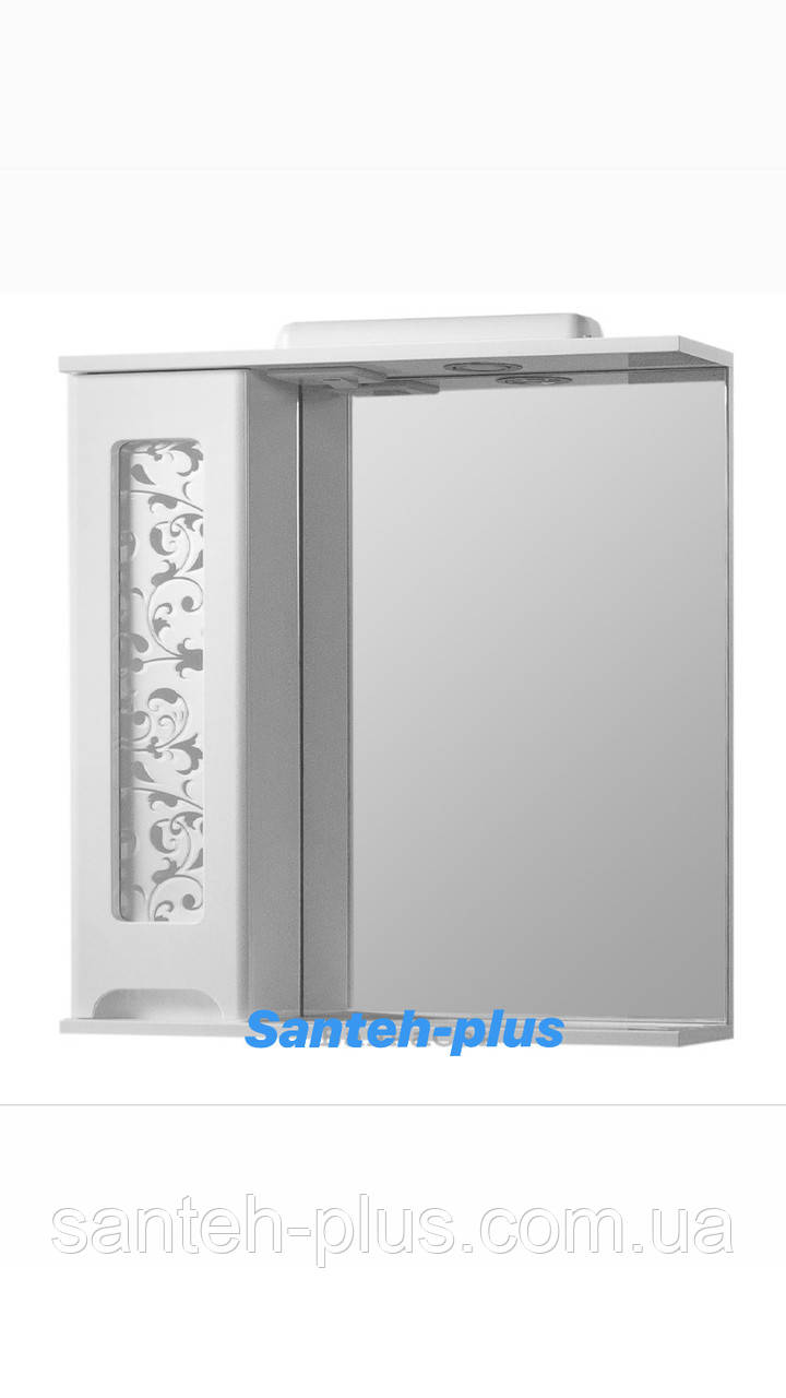 Зеркало для ванной комнаты серии Гламур 60 см левое и правое