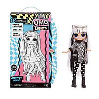Кукла Лол ОМГ Заводная малышка светящаяся неоновая серия  L.O.L Surprise! O.M.G. Lights Groovy Babe, фото 1