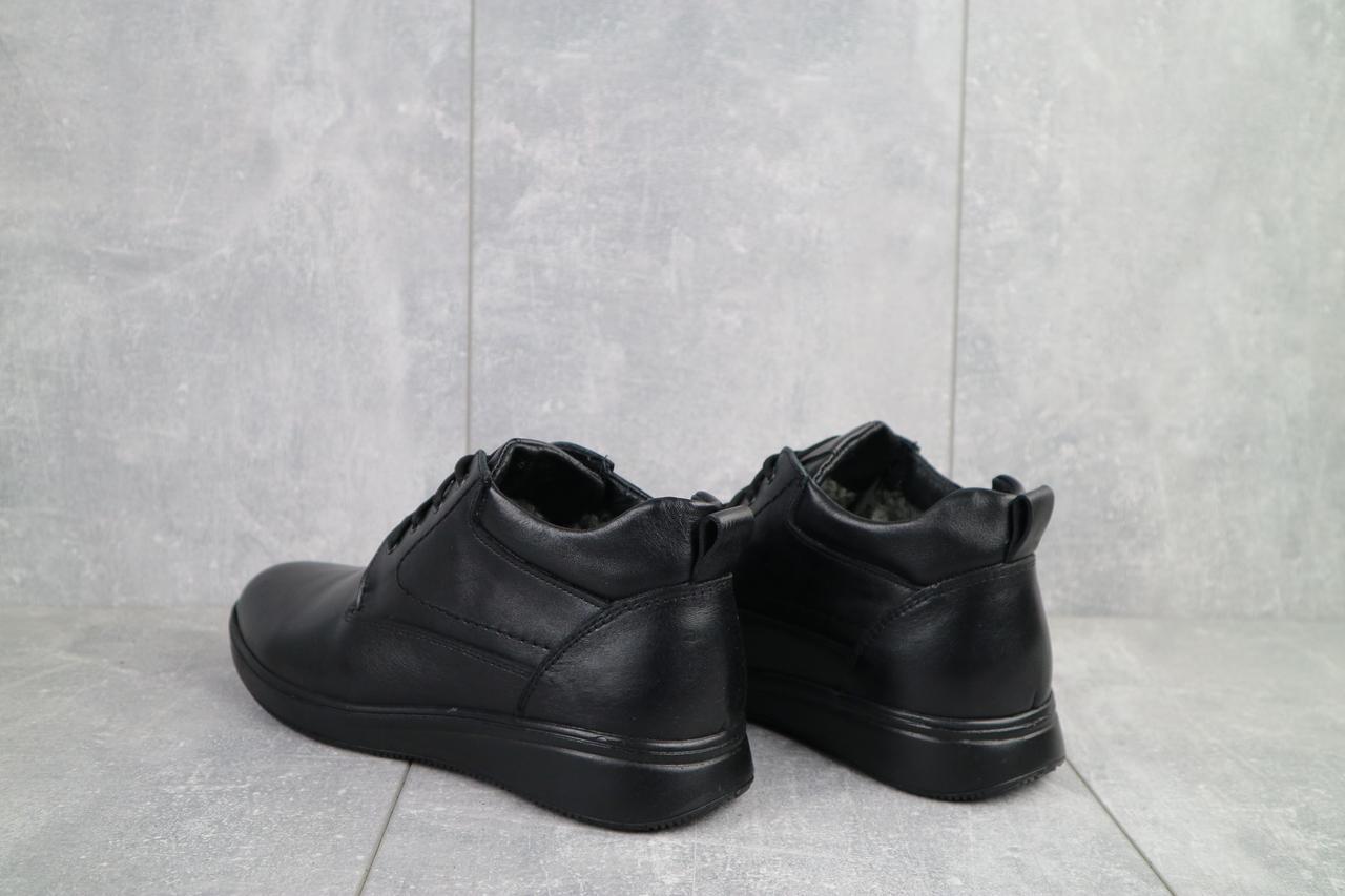 Ботинки мужские Vankristi 650 черные (натуральная кожа, зима)