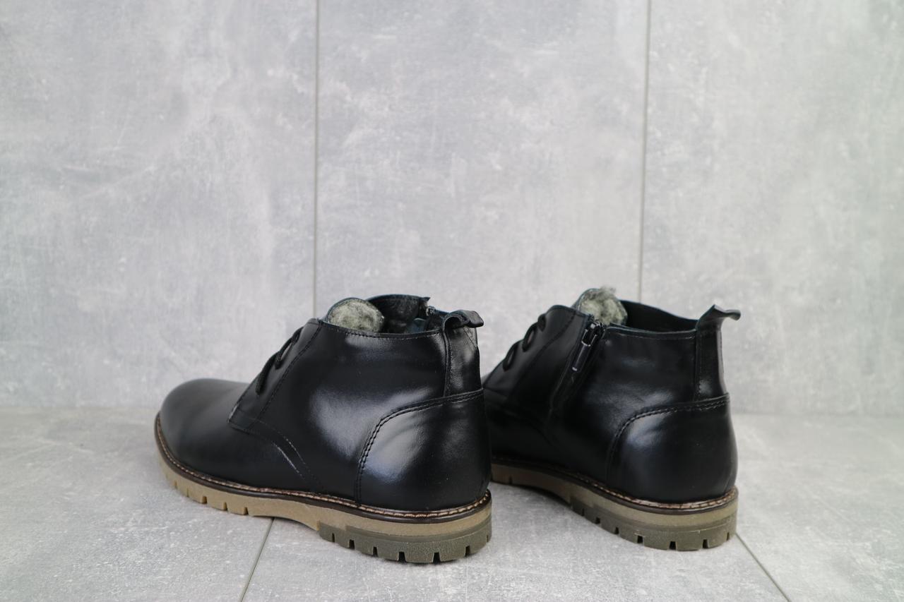 Ботинки мужские Vankristi 162 черные (натуральная кожа, зима)