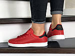 Женские кроссовки Adidas Stan Smith (красные) 9080, фото 3