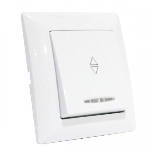 Выключатель Horoz Electric серии Tina проходной c подсветкой 112-005-0006-010