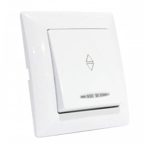 Выключатель Horoz Electric серии Tina проходной c подсветкой 112-005-0006-010, фото 2
