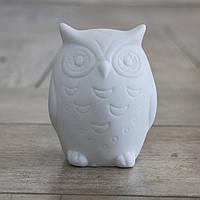 Led ночник Сова белая керамика h9см 1197000