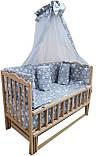 Детская эко кроватка маятник Малыш без лака без ящика, фото 5