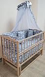Детская эко кроватка маятник Малыш без лака без ящика, фото 7