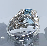 Срібне чоловіче кільце перстень з топазом натуральним Кігті Дракона, фото 2