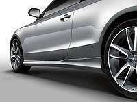 Накладки на пороги юбки обвес Audi A5 8T Coupe (07-16) стиль Sport Style
