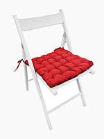 Подушка на стул Кедр на Ливане квадратная стеганная серия Gabi 38x38x5 см Красная (1039)
