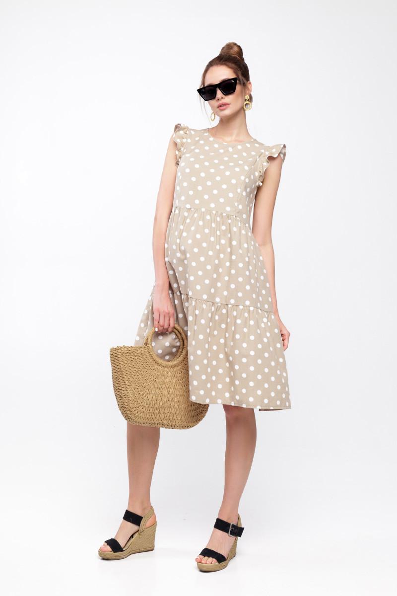 Платье для беременных и кормящих NICKI DR-20.071 бежевое