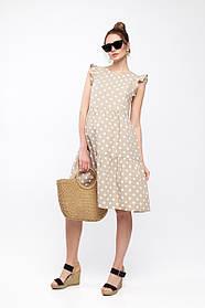 Платье для беременных и кормящих NICKI бежевое