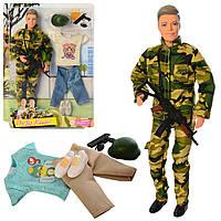 Кукла с нарядом DEFA 8412 (24шт) Кен, 30см, шарнирный, оружие, 2 вида, на листе, 25-32,5-5см