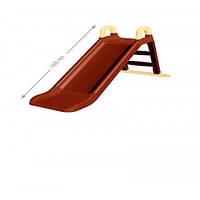 Горка для катания 140 см  ФЛАМИНГО коричневая