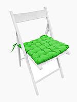 Подушка на стул Кедр на Ливане квадратная стеганная серия Gabi 38x38x5 см Салатовая (1040)