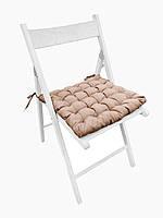 Подушка на стул Кедр на Ливане квадратная стеганная серия Gabi 38x38x5 см Бежевая (1088)