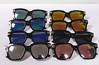 Стильные детские солнцезащитные очки черная оправа 1 шт