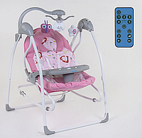 Детская качель-шезлонг для новорожденных 3 в 1 Joy CX-60680 с пультом д/у