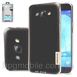Чехол для Samsung Galaxy A8 A800 (2015) - Nillkin Nature TPU Case, Ultra Slim, силикон Коричневый