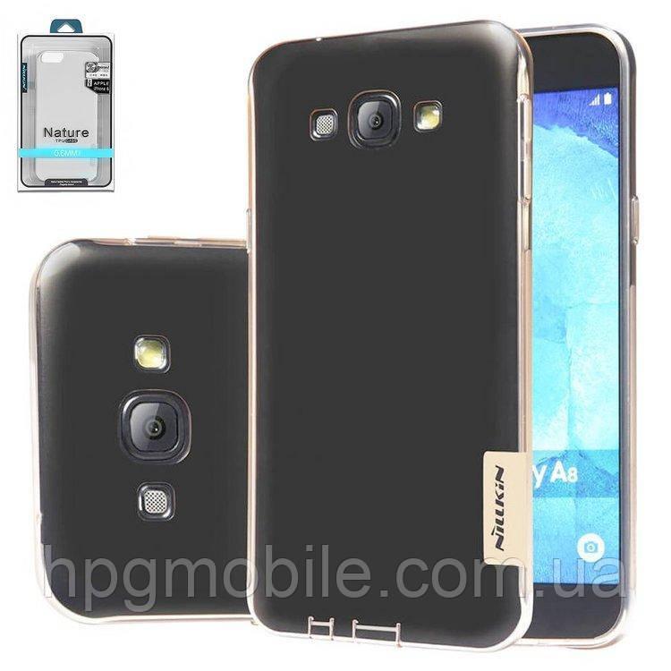 Чехол для Samsung Galaxy A8 A800 (2015) - Nillkin Nature TPU Case, Ultra Slim, силикон Серый