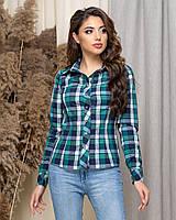 Рубашка женская нарядная в клетку АНД431, фото 1