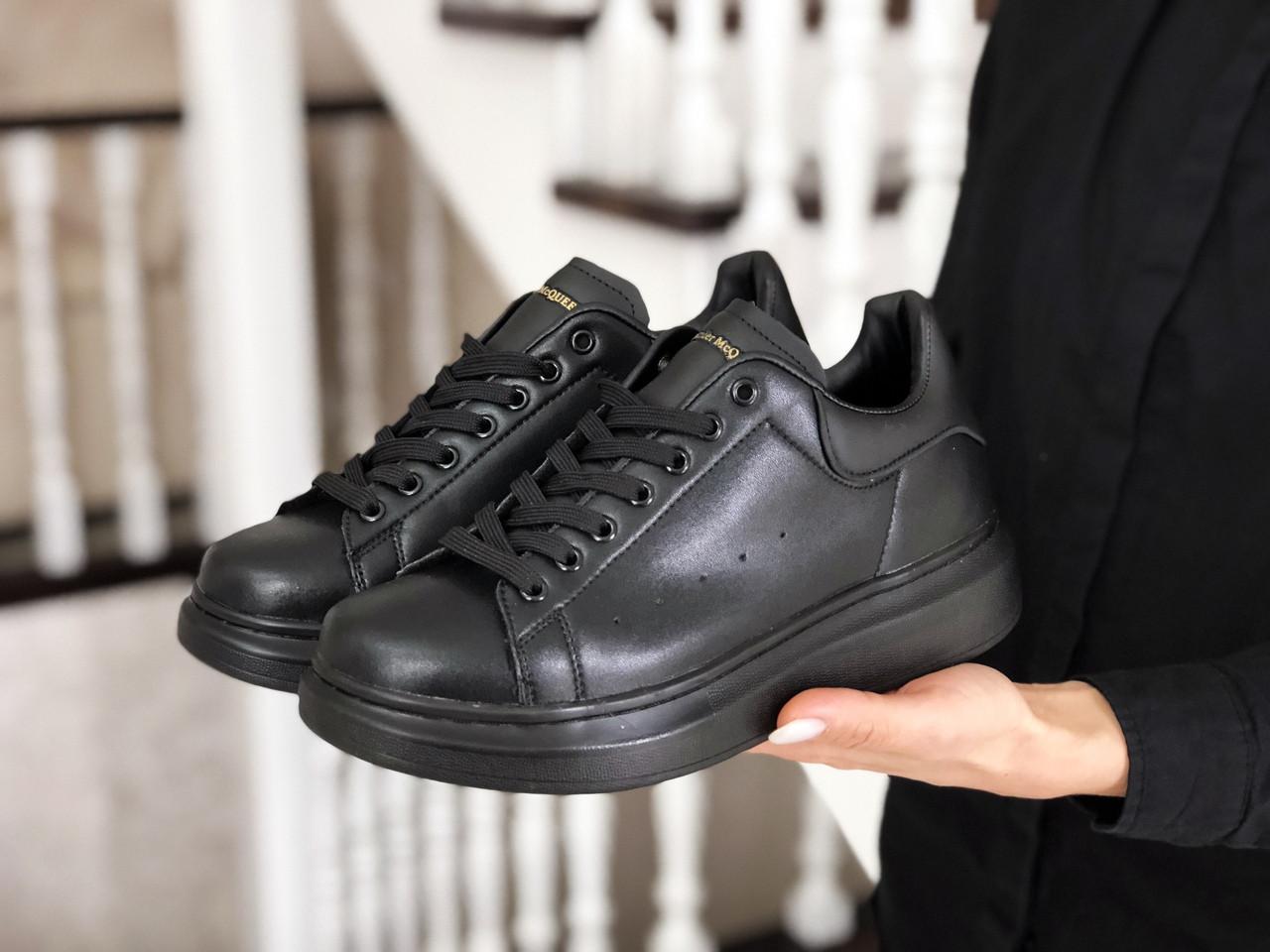 Женские кроссовки Alexander McQueen (черные) 9084