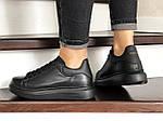 Женские кроссовки Alexander McQueen (черные) 9084, фото 2