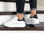 Жіночі кросівки Alexander McQueen (біло-чорні) 9085, фото 3