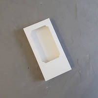 Коробка для плитки шоколаду 16х8х1,7 см (біла)