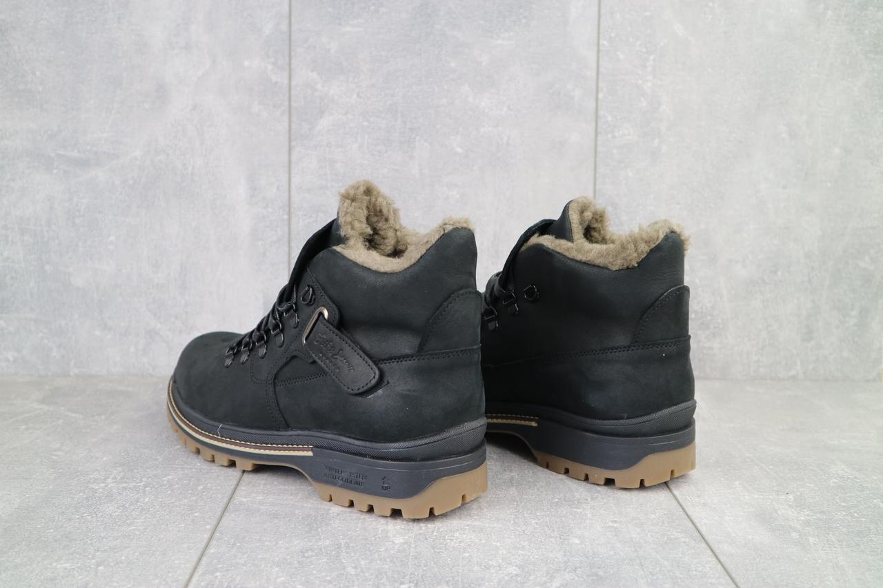 Мужские ботинки кожаные зимние черные Trike 035/M
