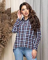 Рубашка женская нарядная в клетку АНД435, фото 1