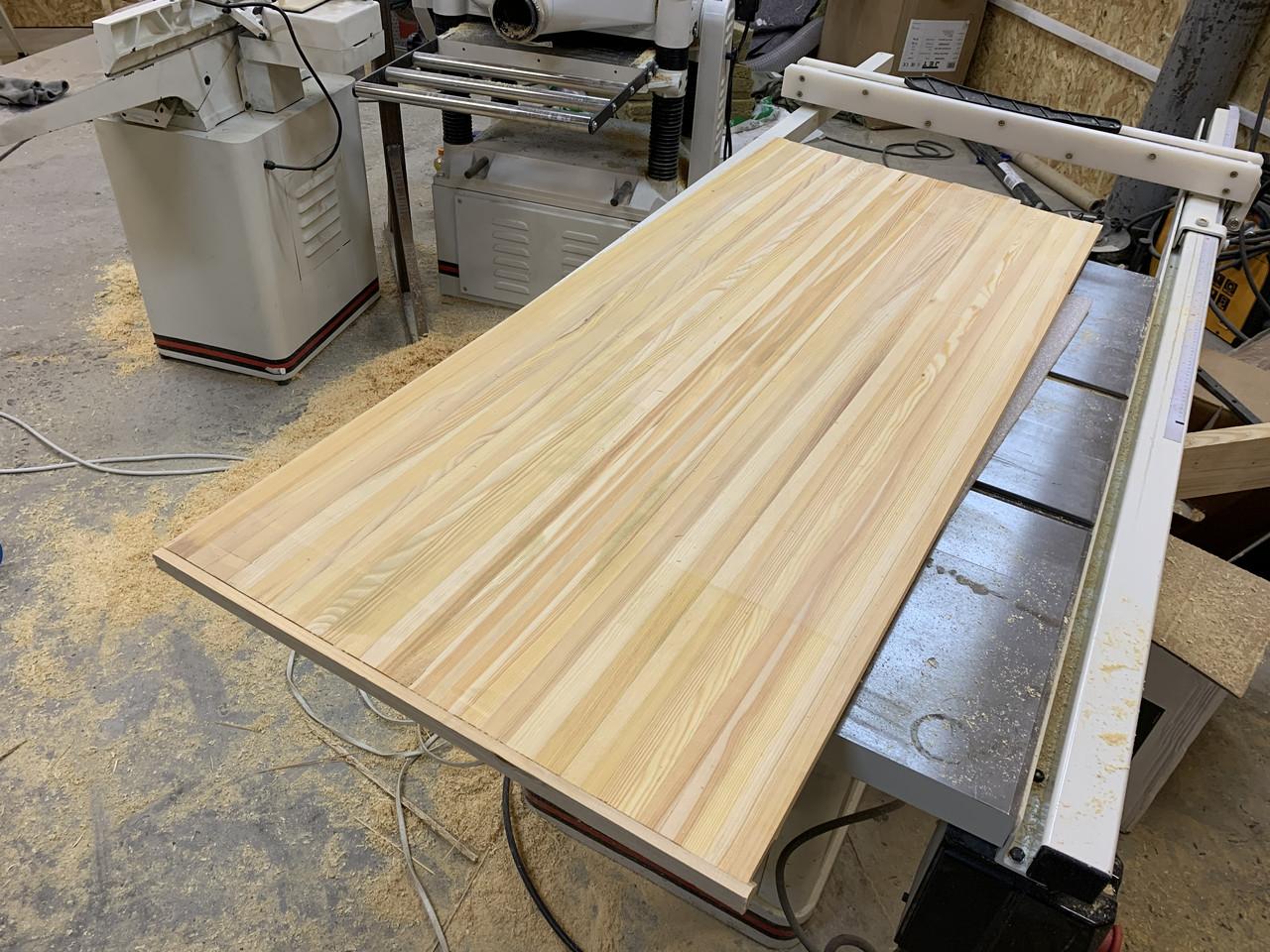 Мебельный щит Лиственница, столярний щит 40мм, столешница деревянная