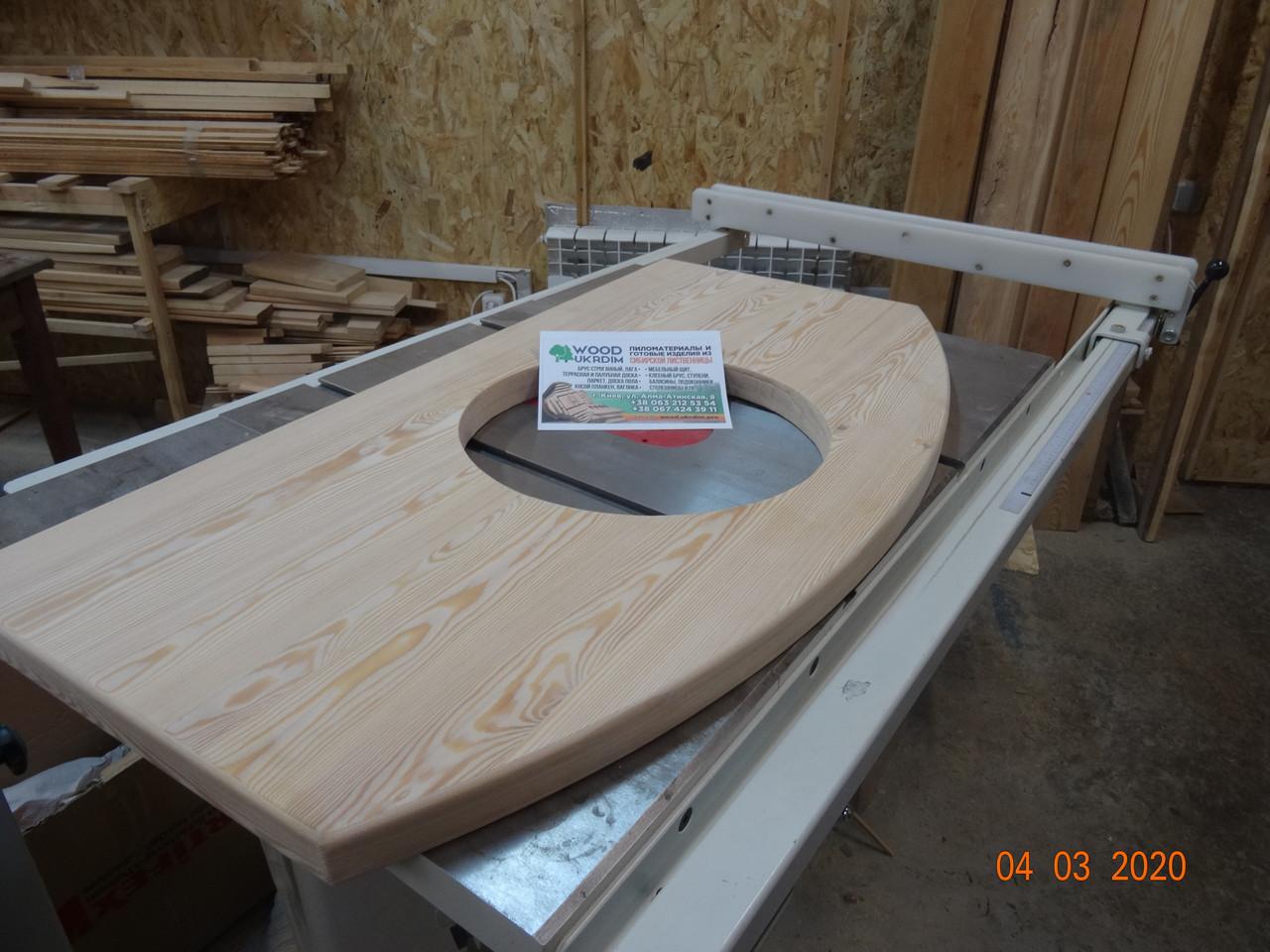 Столярный мебельный щит деревянный Лиственница, столешница под мойку для кухни