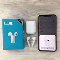 Беспроводные наушники HBQ I11 TWS Bluetooth высокого качества 1 в 1 с AirPod Apple
