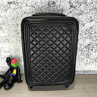 Chanel Rolling Luggage Quilted Rhombus 55 Black