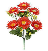 Букет штучних квітів Хризантема з травичкою , 35 см, фото 1