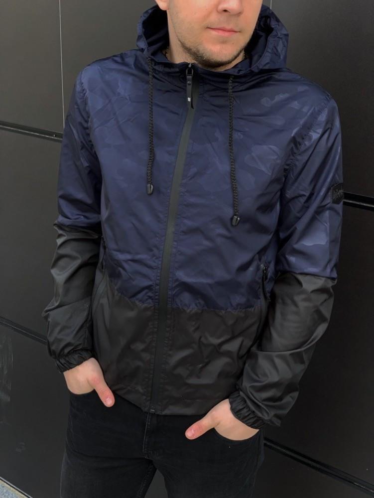 """Чоловіча спортивна куртка """"Anti-wind"""" синій камуфляж"""