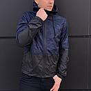 """Чоловіча спортивна куртка """"Anti-wind"""" синій камуфляж, фото 3"""